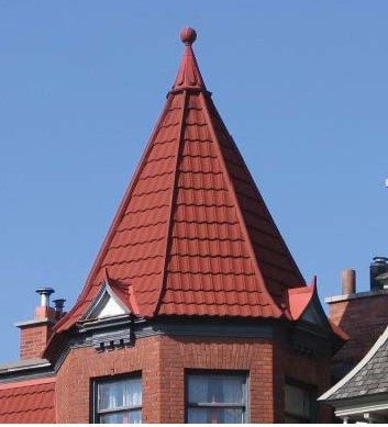 stone coated metal roofing tiles-VILLA TILE